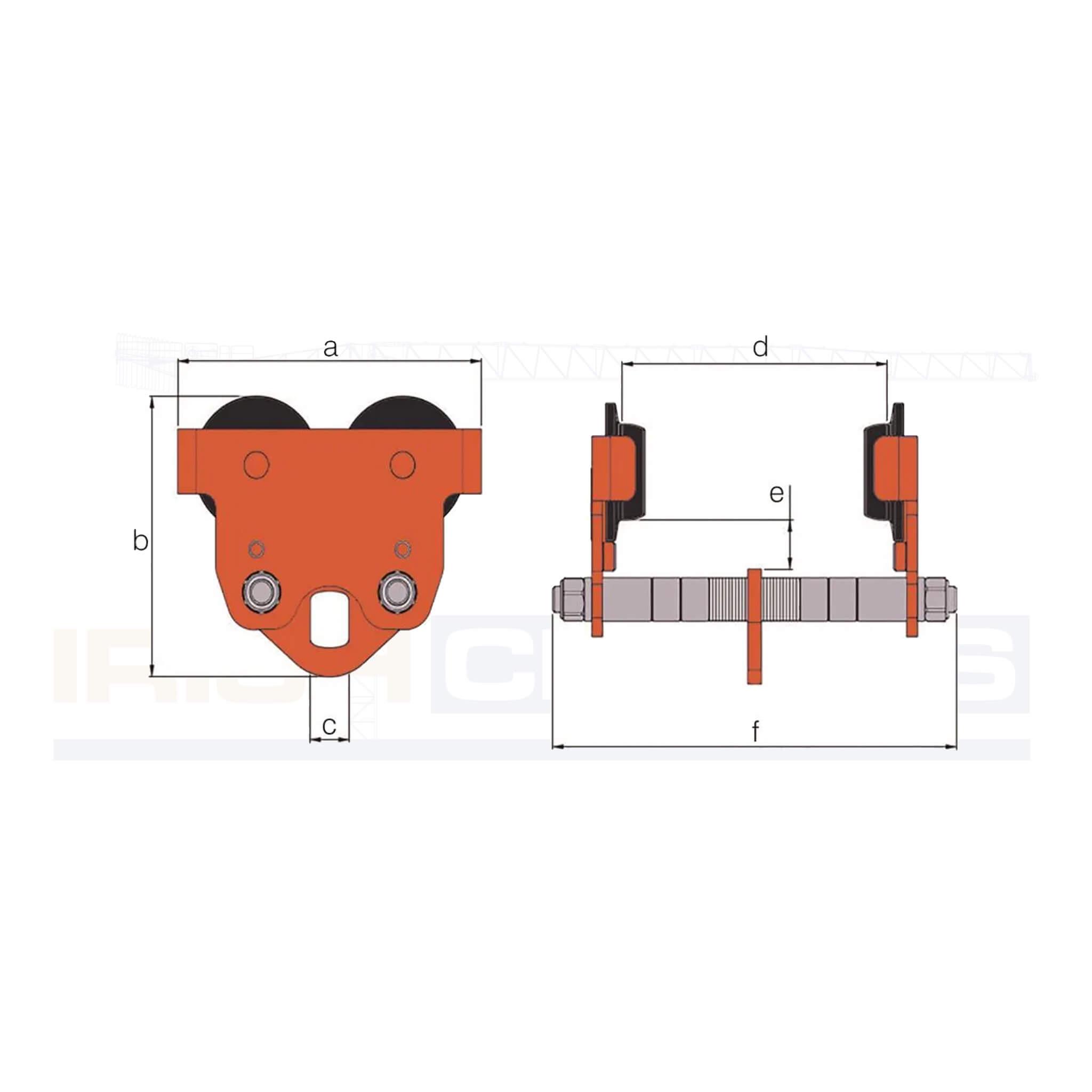 Adjustable Girder Push Trolley alt