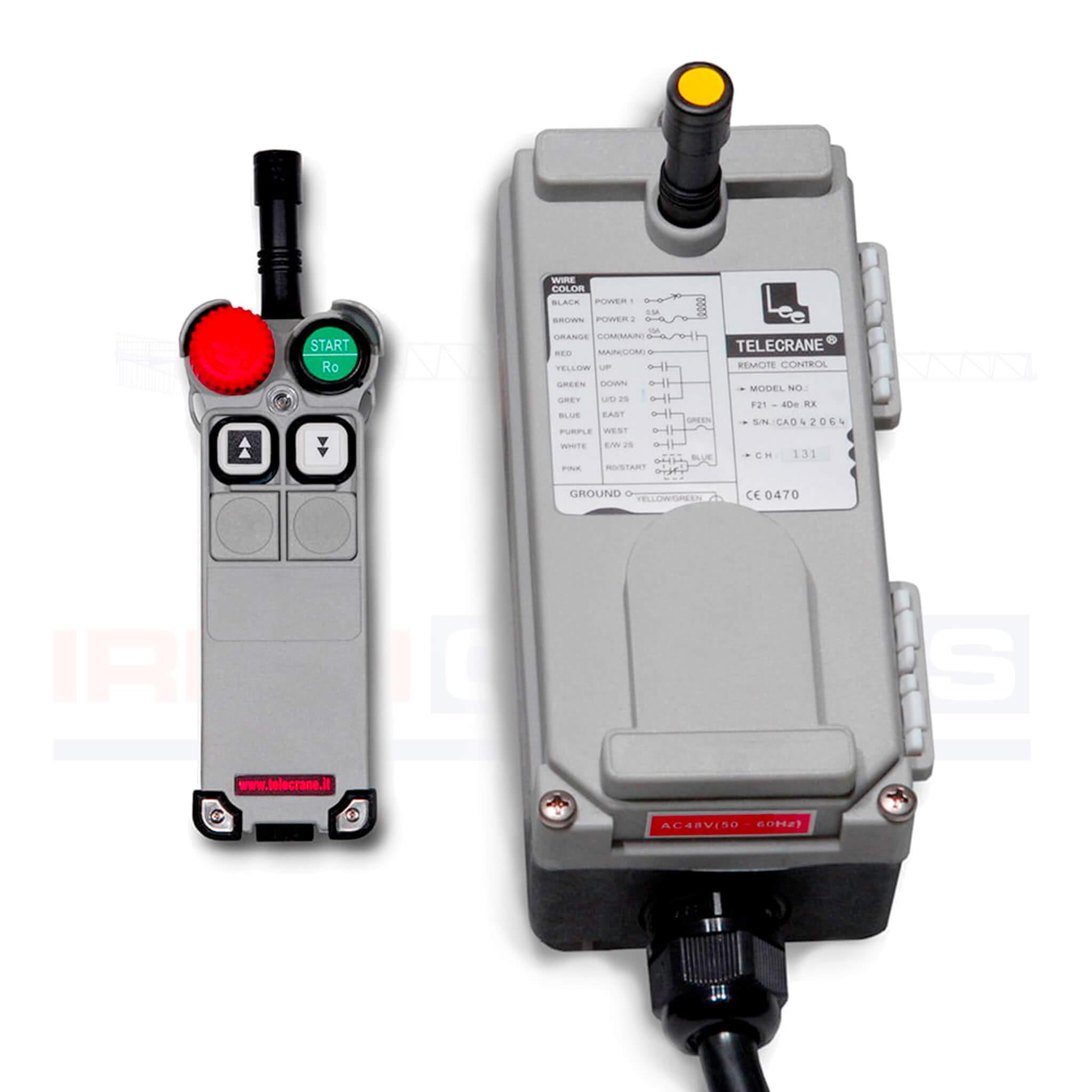Silver Hoist F21 4D 2 remote control