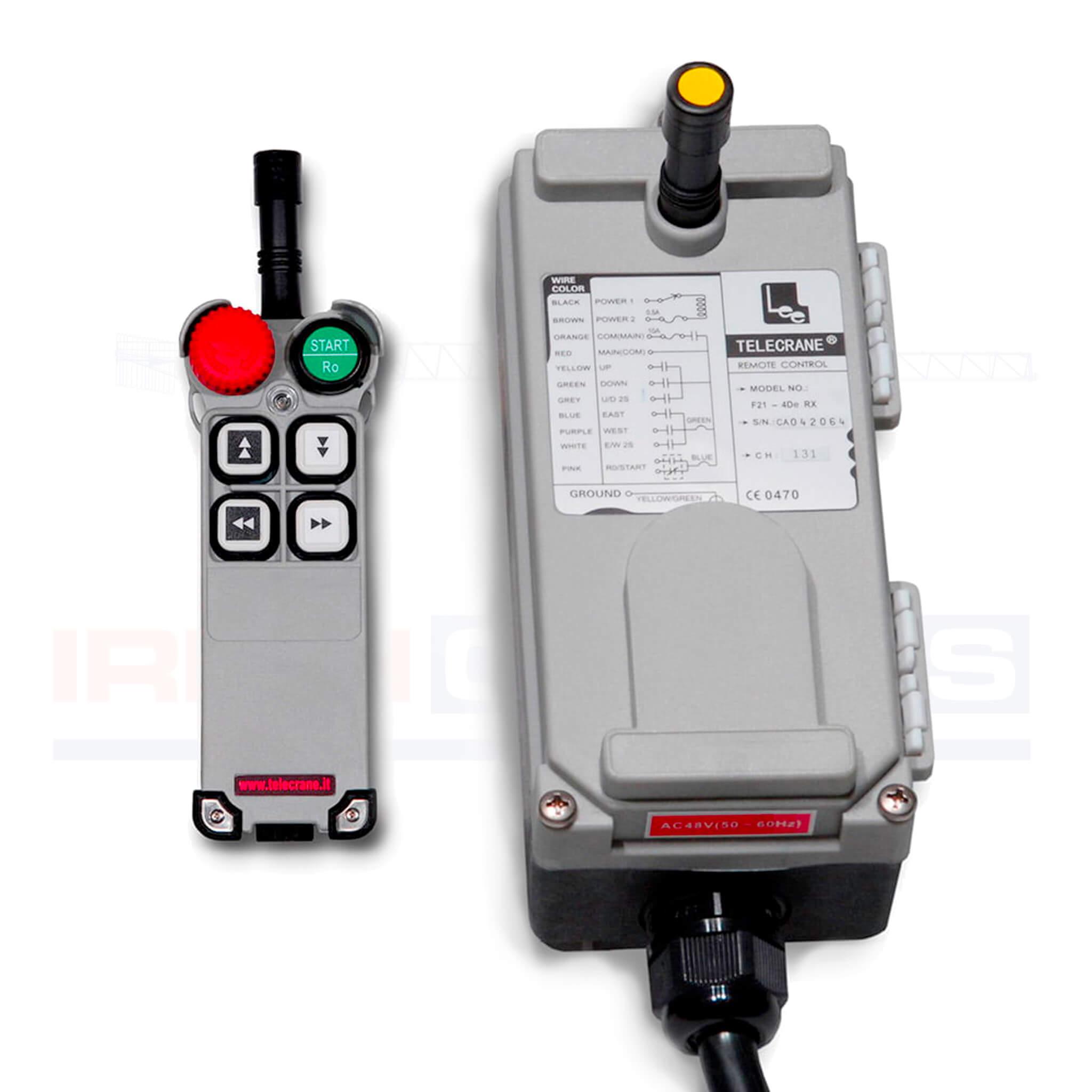 Silver Hoist F21 4D remote control