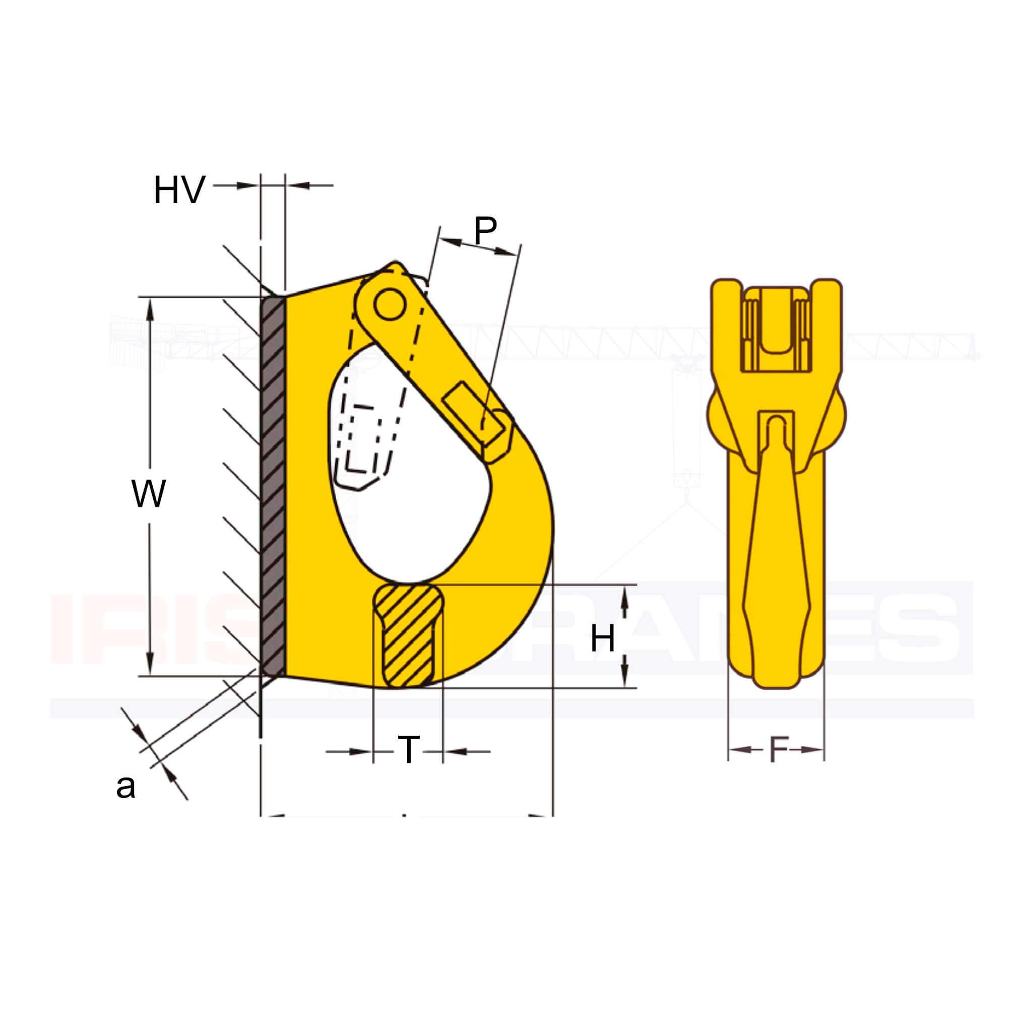 Weld on Hook diagram